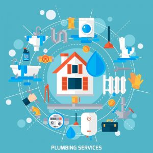 drawing of plumbing services needed for any plumbing emergency in Palm Bay and Melbourne Florida